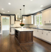 home kitchen accented in white paint